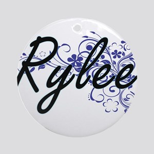 Rylee Artistic Name Design with Flo Round Ornament