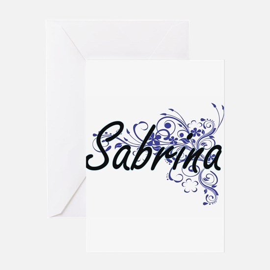Sabrina Artistic Name Design with F Greeting Cards