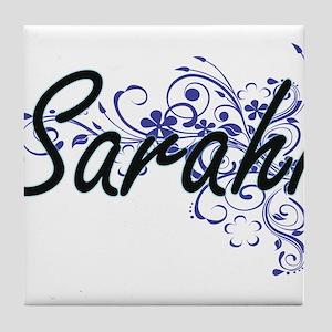 Sarahi Artistic Name Design with Flow Tile Coaster