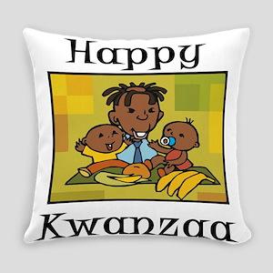 Happy Kwanzaa little Boy dancing with corn Eve