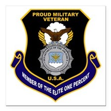 USAF Security Forces Square Car Magnet 3