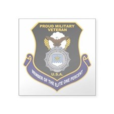 USAF Security Forces Square Sticker 3