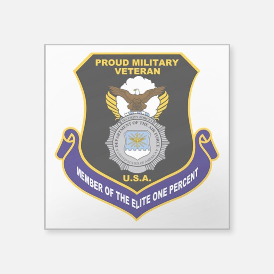 """USAF Security Forces Square Sticker 3"""" x 3"""""""