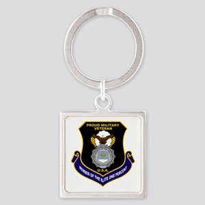 USAF Security Forces Square Keychain