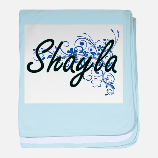 Shayla Artistic Name Design with Flow baby blanket