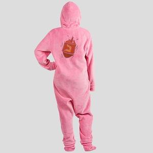 100%jewcy pink copy Footed Pajamas