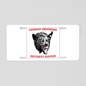 shepherd security Aluminum License Plate