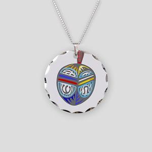 100%jewcy pink copy Necklace Circle Charm