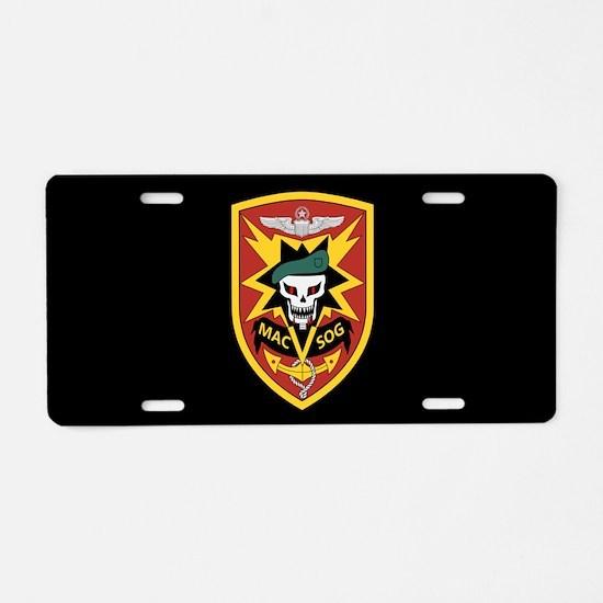 MAC V SOG Aluminum License Plate