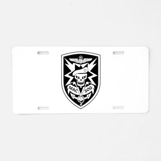 MAC V SOG (BW) Aluminum License Plate