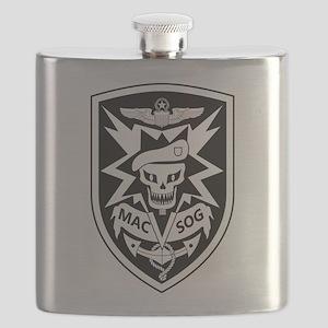 MAC V SOG (BW) Flask
