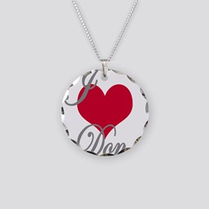 I love (heart) Don Necklace Circle Charm