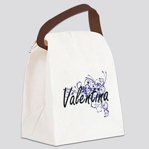 Valentina Artistic Name Design wi Canvas Lunch Bag
