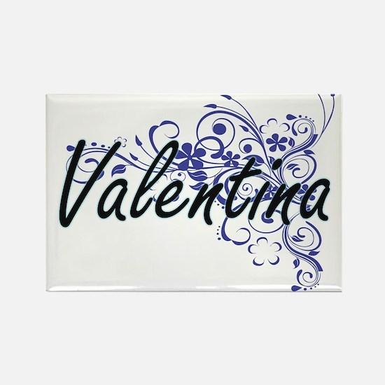 Valentina Artistic Name Design with Flower Magnets