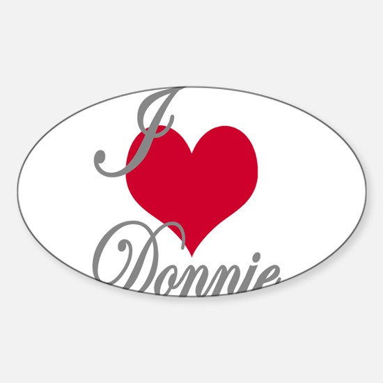 I love (heart) Donnie Sticker (Oval)
