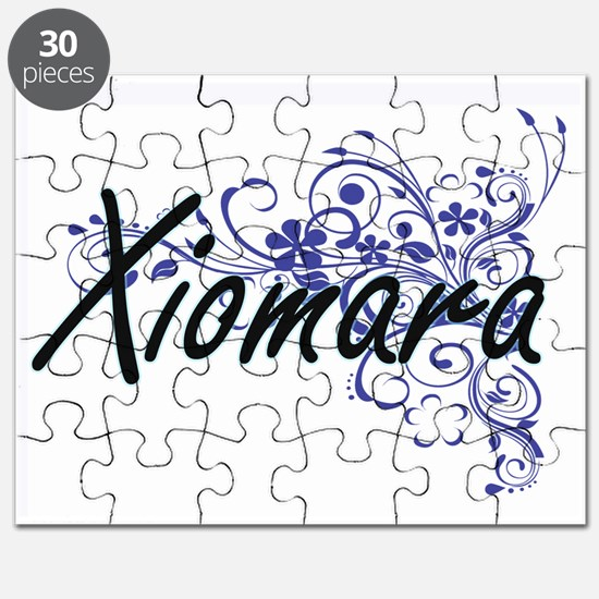 Xiomara Artistic Name Design with Flowers Puzzle