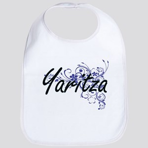 Yaritza Artistic Name Design with Flowers Bib