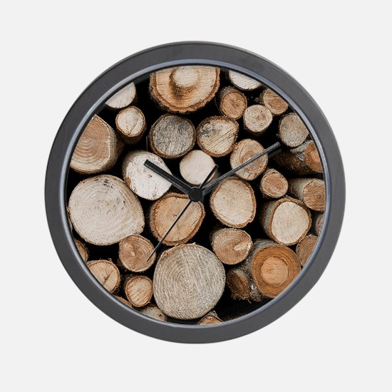 Cut Logs RC Wall Clock