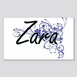 Zara Artistic Name Design with Flowers Sticker