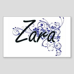 Zara Artistic Name Design with Flowers Sticker