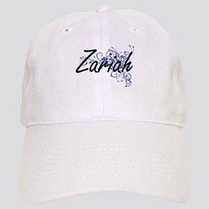 Zariah Artistic Name Design with Flowers Cap