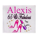 65th birthday Fleece Blankets