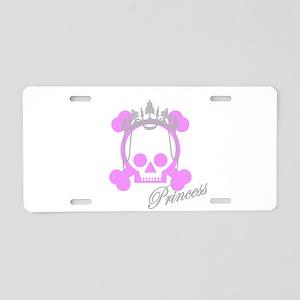 Princess Pirate Aluminum License Plate
