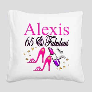 65 YEARS OLD Square Canvas Pillow