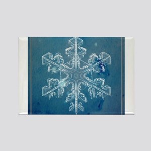 Blue Watercolor Snowflake Magnets