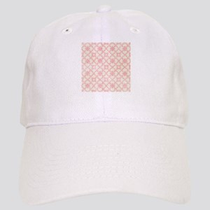 Pink and Cream Floral Damask Cap