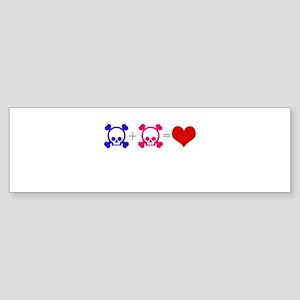 Love Skulls Sticker (Bumper)