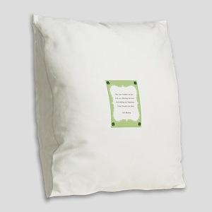 Irish Blessing Burlap Throw Pillow