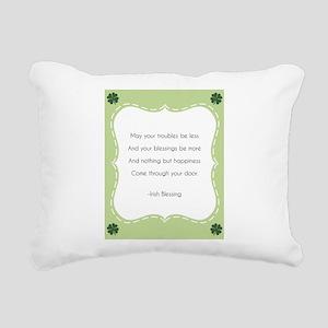 Irish Blessing Rectangular Canvas Pillow