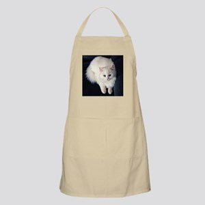 White Cat with Blue Eyes Apron