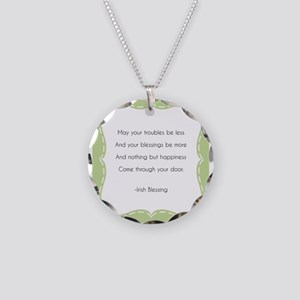 Irish Blessing Necklace Circle Charm