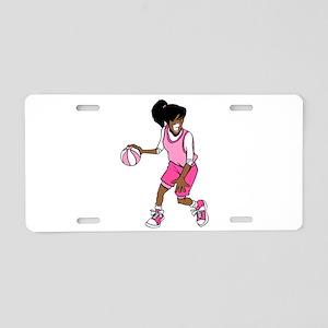 Basketball Girl Aluminum License Plate