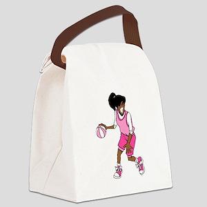 Basketball Girl Canvas Lunch Bag