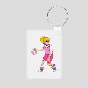 Basketball Girl Aluminum Photo Keychain