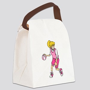 Basketball Girl Canvas Lunch Bag