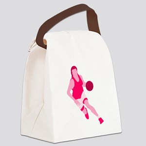 Pink Play Hard Canvas Lunch Bag