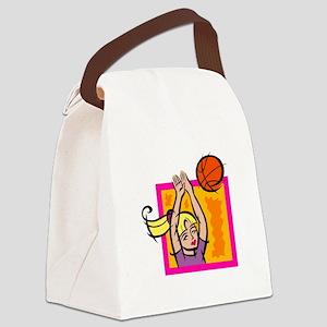 Blocked Shot Canvas Lunch Bag