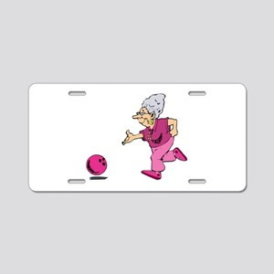Bowling granny Aluminum License Plate