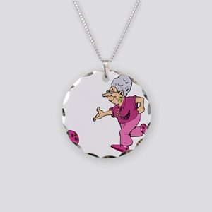 Bowling granny Necklace Circle Charm