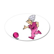 Bowling granny Wall Decal