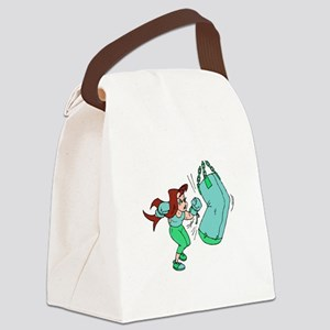 Green Punch! Canvas Lunch Bag