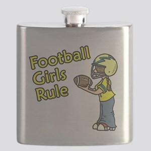 Football Girls Rule Flask