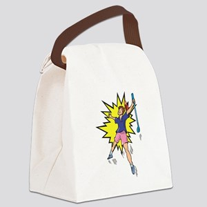 Winning Golfer Canvas Lunch Bag