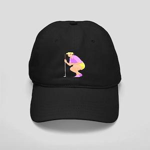 Woman Golfer Black Cap