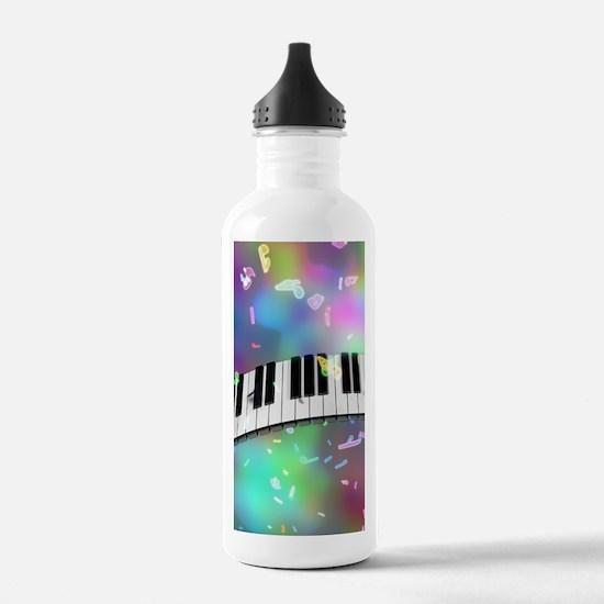 Rainbow Keyboard Water Bottle