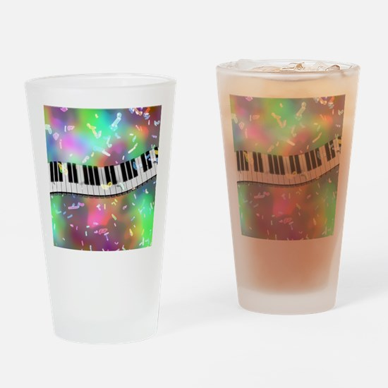 Rainbow Keyboard Drinking Glass